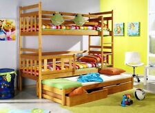 KUBUS B for 3 person triple BUNK BED Free P&P with foam mattresses and drawers