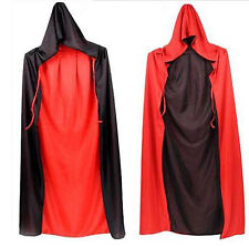 New Polyester double layers Hooded Cloak Wicca Robe Witchcraft Larp Cape