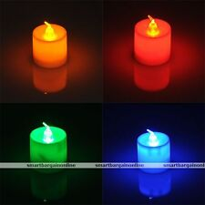 4pcs LED Battery Operated Flameless Candles Tea Light Lamp Wedding Bedroom Decor