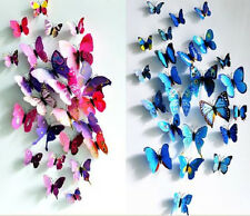 DIY Fashion Sticker Art Design Decal Wall Stickers Home Decor Room 3D Butterfly