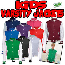 Kids American Style Varsity Letterman College Jacket Baseball New Child S M L XL