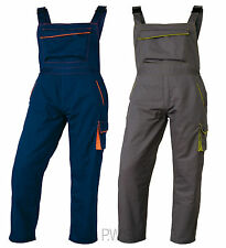 Delta Plus M6SAL Mens Work Wear Bib and Brace Overalls Dungarees Trousers New
