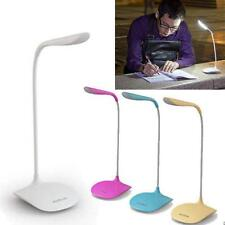 Adjustable USB Rechargeable New Touch Sensor LED Desk Table Lamp Reading Lights