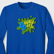 DOUBLE DARE Funny T-shirt Nickelodeon Family Team Work Long Sleeve Tee