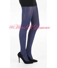 *PRIVATE* Ultima Total Cover Elegant Luxury Opaque Glossy Rich Blue Tights 120 D