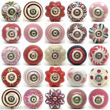 Pink White Ceramic Door Knobs by Love Handle Furniture Drawer Pulls