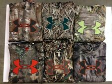 NWT Men's Under Armour Camo Big Logo Fleece Hoody All Colors 1249745