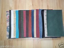 5 x FAUX LEATHER LEATHERETTE VINYL FABRIC LARGE SAMPLES PIECES. VARIOUS COLOURS