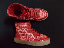 Michael Kors Youth girls Ivy High Artic shoes sneakers new red