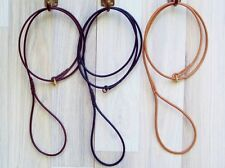 Premium Round Leather Dog Show SLIP Leads  Handmade by KORBELL LEADS
