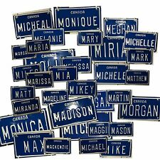 CANADA 'M' Mini Personalized Novelty License Plate Embossed Metal Name Bike/Toys
