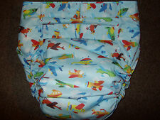 Dependeco All In One PUL adult baby diaper S/M/L/XL  (planes)