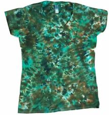 "NEW Tie Dye ""Earth"" Ladies Fitted V Neck T Shirt,Small-XXL, Tye, Womens, Camo"