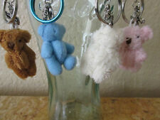Back to School Teddy Bear Key Chains with a Cross 4''