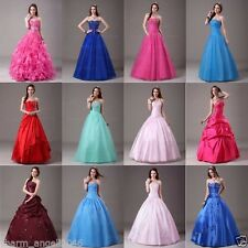 Angel Long Formal Prom Dress Party Evening Dresses Quinceaneara Ball Gowns 6-16