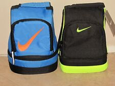 New! NIKE Dome Style Lunch Box Tote Variety of Colors Blue and Volt