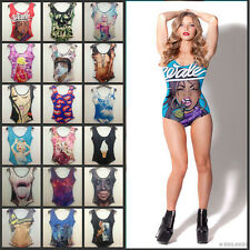 New Women Sexy Monroe Pearl Floral Galaxy Print Individial 3D One Piece Swimsuit