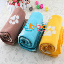 Cute Lovely Soft Cozy Paw Prints Handcrafted Pet Fleece Blanket Dog Cat Warm Mat