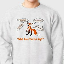 What Does The Fox Say Funny You Tube YLVIS T-shirt Norwegian Crew Sweatshirt