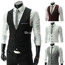 Men Casual Formal Slim Fit Business Waistcoat Dress Vest Jacket Tops Suit 4color