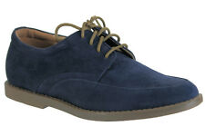 Calvin Klein Mens Shoes Casual Dress Suede Lace Up Oxfords Flann F9006 Navy
