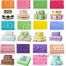 13 Different Styles Silicone Molds Fondant Gum Paste Mold Lace Cake Decorating