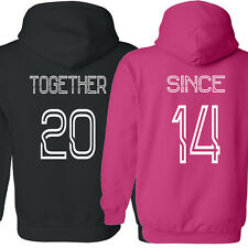 COUPLE hoodie Together Since Love shirt Valentine's Day gift sweatshirt tee top