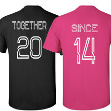 COUPLE t-shirts Together Since Love shirt Valentine's Day gift tee crewneck T
