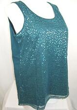Catherine's by Added Dimensions Plus Size Radiant Sequin Scoopneck Tank