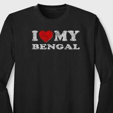 I HEART MY BENGAL Cat Love Pets T-shirt Show Breed Long Sleeve Tee