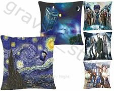 Van Gogh Starry Night Dr Doctor Who Call Box Tardis Home Decor Pillow Case Cover