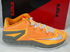 Nike Lebron XI 11 Low Atomic Mango Orange Grey Basketbal Shoes 642849-800