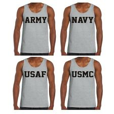 Army Navy Air Force USAF Marines USMC Physical Training Military Tank Top Shirt