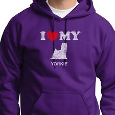 I Heart My Yorkie Love Yorkshire Terrier T-shirt Dog Breed Pet Hoodie Sweatshirt