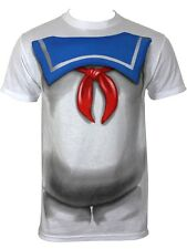 Ghostbusters Stay Puft Blue Collar Costume Men's White T-Shirt - NEW & OFFICIAL