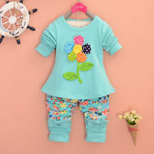 2014 New spring/autumn Pure cotton children baby Girls flowers clothes pants T8