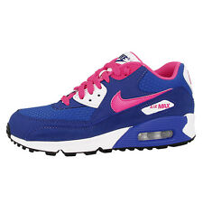 Nike Air Max 90 2007 Gs Chaussures Baskets Cobalt Rose Vif 345017-121 Ltd Bw