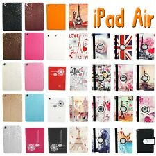 Suede Leather Smart Case Cover for Apple iPad Air / 5 + Screen Protector+ Stylus