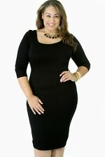 GITI ONLINE Plus Size Ladies Women Casual Half Sleeve Miracle Dress 1XL 2XL 3XL