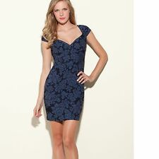 NEW GUESS Women's Camille Floral Cap Sleeves Jacquard Dress