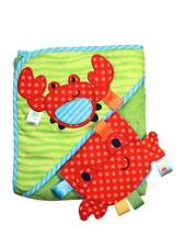 Taggies Crab Infant Baby Hooded Towel and Wash Mitt Set