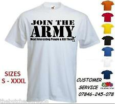 Mens Join The Army T Shirt Custom Funny Interesting People Print