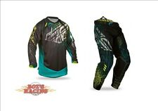 2015 FLY RACING EVOLUTION 2.0 SPIKE JERSEY & PANT GEAR COMBO BLACK AND TEAL