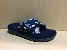 NEW - Women's Vionic with Orthaheel Technology RELAX Blue Rose Slippers
