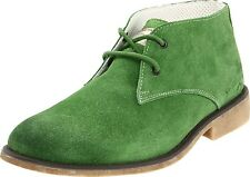 Calvin Klein Jeans Men's Lace-up Shoes Boots Quent S4105 Suede Green Medium (D)