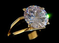ROUND SOLITAIRE ENGAGEMENT RUSSIAN LAB CREATED SIM DIAMOND RING WEDDING GL087