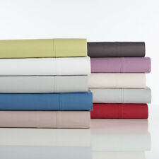 310 Thread Count Cotton Rich Percale Sheet Set by D'Decor 40cm Wall   Queen Size