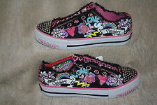 "GIRLS SKECHERS TWINKLE TOES ""LOVE"" SLIP ON SHOES~SIZES IN LISTING (2159) *CUTE*"