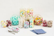 x10 Sweet Jars Large Kit Tongs Scoops & Bags Candy Buffet Bar Kit Wedding