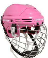 New Bauer 2100 Ice Hockey Helmet Combo w FM2100 Cage Pink Adjustable Fit 4 Sizes